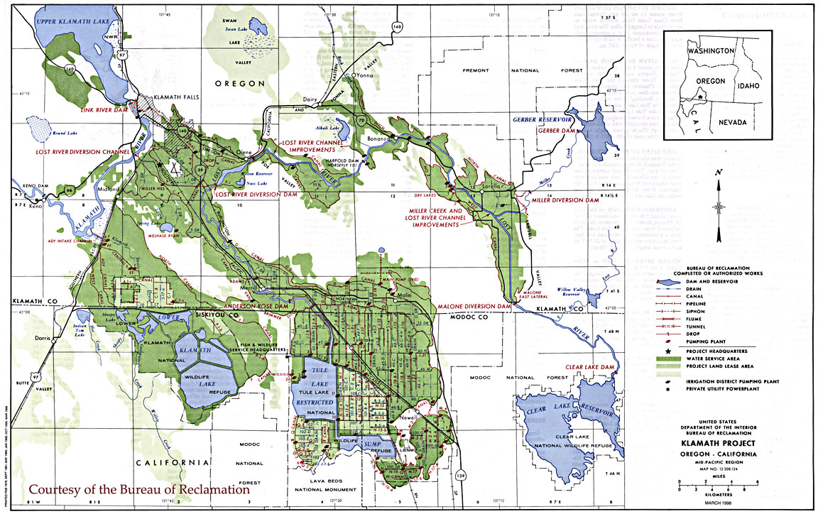 Klamath Project Map 1998