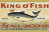 """King o' Fish"" BrandSalmon Can Label Mss 1102-1"