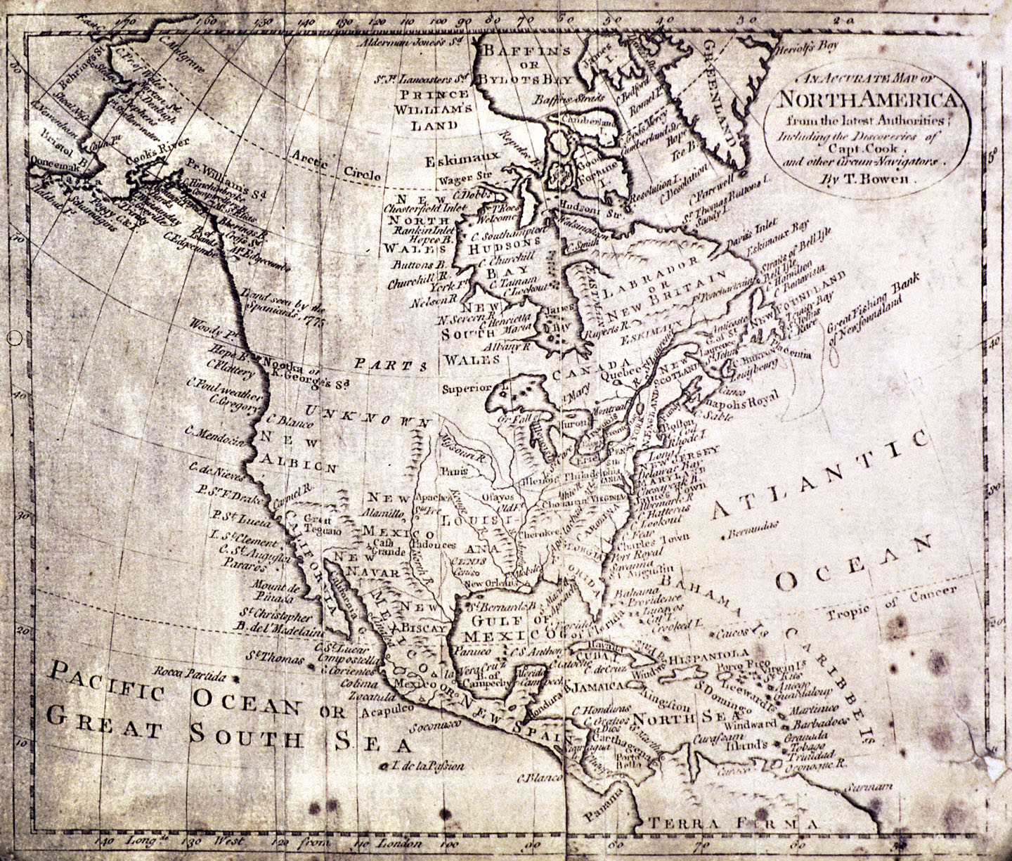 An Accurate Map Of North America C - Map of western us 1770