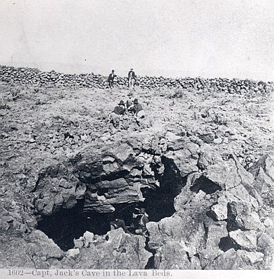 Captain Jack's cave, lava beds, 1873