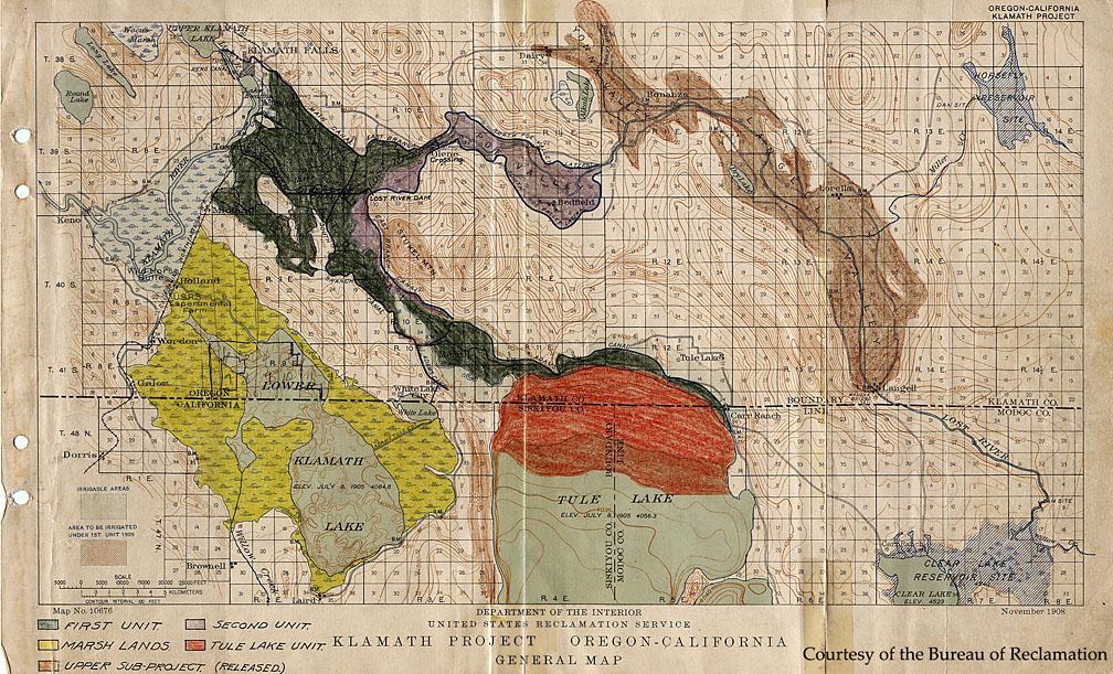 Klamath Project Map - Us map 1908