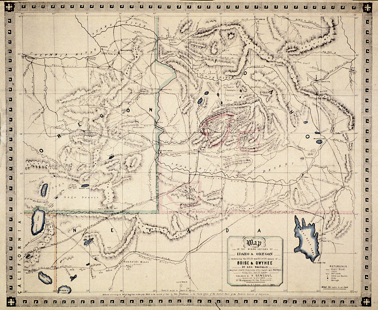 Mining sections of idaho and oregon 1864 catalog sciox Image collections