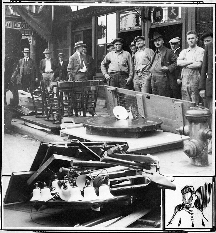 raid on chinatown casino  1922