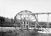 Old Fishwheel on Klamath River, 1905 // Finley A 1738