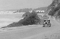 Coast Highway between Nehalem and Neahkahnie c. 1920 OrHi 94418