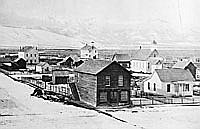 Baker City between 1865 and 1870 M.M. Hazeltine Photograph OrHi 92
