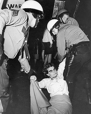 Protestor Struggles with Police, 1966 // OrHi 23920
