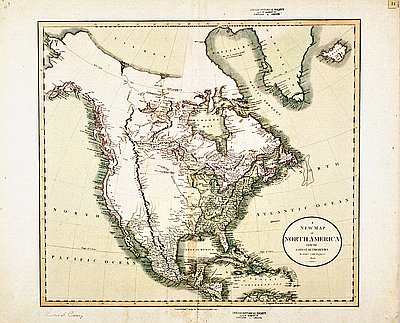 New Map Of America.New Map Of North America 1806