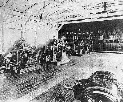Oregon City Falls A-C Generator, 1889
