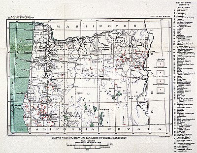 Oregon mining districts oregon history project sciox Image collections