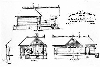 Portland Construction Co. House Plans, 1886