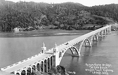 Rogue River Bridge Gold Beach Bookmark And Share Pdf Catalog Number Orhi 105404