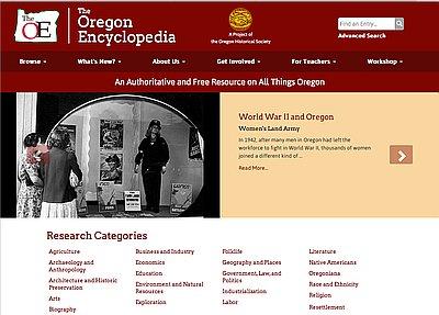 Oregon History Project - Oregon encyclopedia