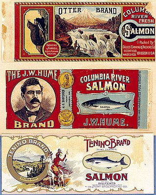 Columbia River Salmon Canning Labels // OrHi 85374