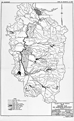Willamette River And Tributaries - Willamette river on map of us