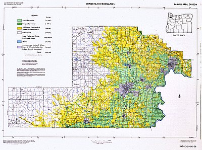 Yamhill Area Land Use Map